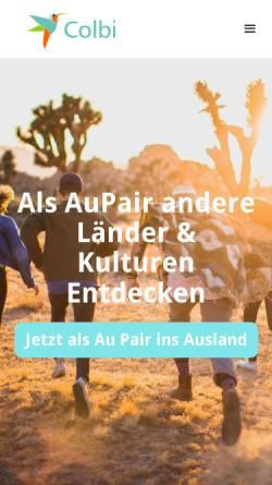 Vorschau der mobilen Webseite www.aupair-colbi.com, AuPair-Agentur Colbi