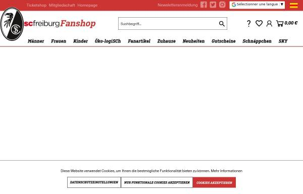 Vorschau von shop.scfreiburg.com, SC Freiburg - Fanshop