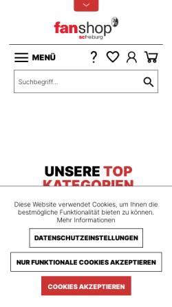 Vorschau der mobilen Webseite shop.scfreiburg.com, SC Freiburg - Fanshop