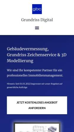 Vorschau der mobilen Webseite grundriss-digital.com, Grundriss Digital