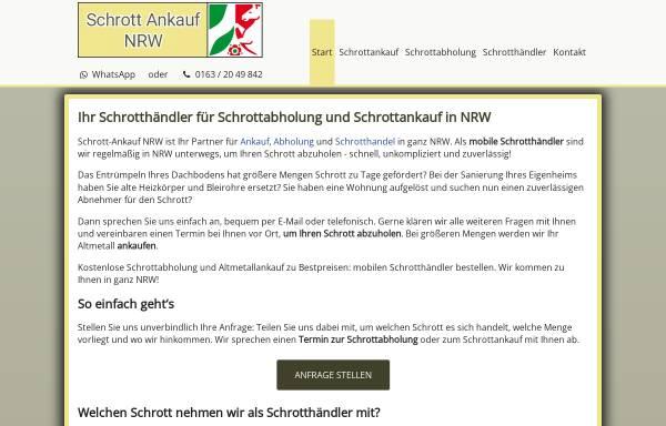 Vorschau von www.schrott-ankauf-nrw.de, Schrottabholung NRW
