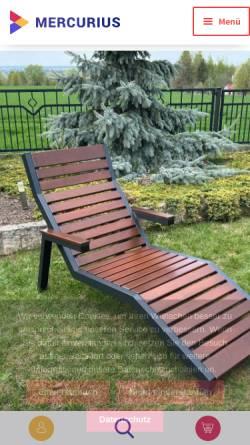 Vorschau der mobilen Webseite mercurius.shop, Mercurius Shop Gartenmöbel