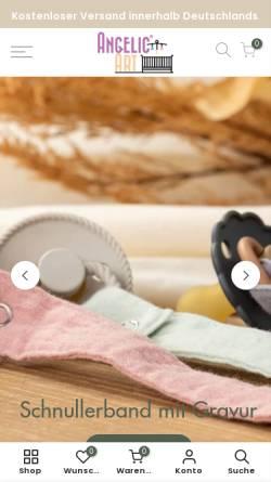 Vorschau der mobilen Webseite www.angelicart.de, Angelicart Schnullerkette