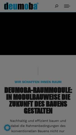 Vorschau der mobilen Webseite deumoba-group.de, deumoba GmbH