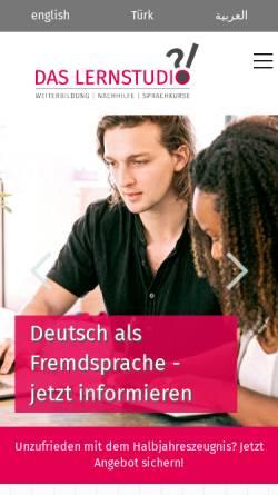 Vorschau der mobilen Webseite lernstudio-hagen.de, Lernstudio Hagen