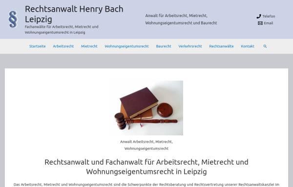 Vorschau von www.rechtsanwalt-bach.de, Rechtsanwalt Henry Bach