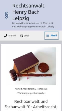 Vorschau der mobilen Webseite www.rechtsanwalt-bach.de, Rechtsanwalt Henry Bach