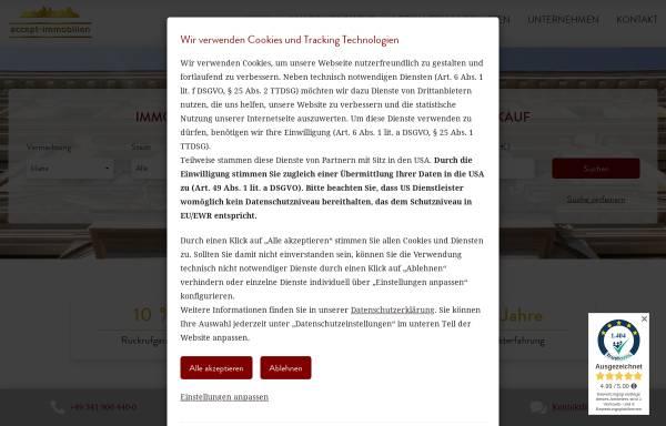 Vorschau von www.accept-immobilien.de, accept-immobilien GmbH