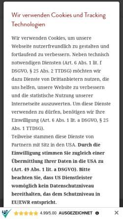 Vorschau der mobilen Webseite www.accept-immobilien.de, accept-immobilien GmbH