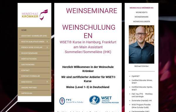 Vorschau von www.weinschule-kroemker.de, Weinschule Krömker KG