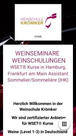 Vorschau der mobilen Webseite www.weinschule-kroemker.de, Weinschule Krömker KG