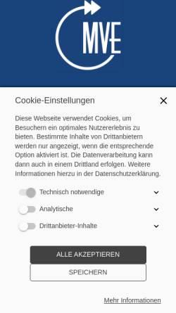 Vorschau der mobilen Webseite mveportal.de, MVE - Most Valuable Employee