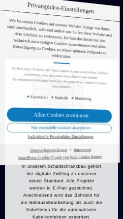 Vorschau der mobilen Webseite uvp-schaltschrankbau.de, UVP Schaltschrankbau