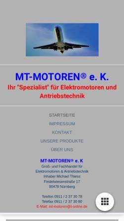 Vorschau der mobilen Webseite www.mt-motoren.trade, MT-MOTOREN® e.K. - Inhaber Michael Thiess