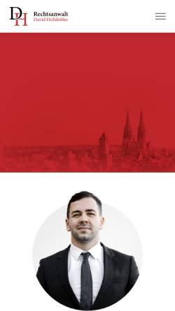 Vorschau der mobilen Webseite www.rechtsanwalt-hoelldobler.de, Rechtsanwalt David Hölldobler