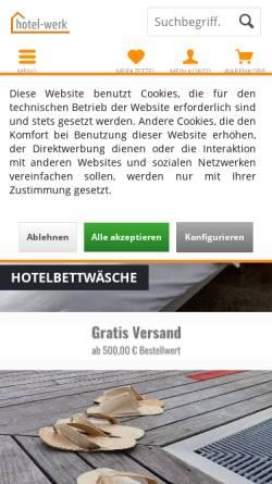 Vorschau der mobilen Webseite www.hotel-werk.de, hotel-werk