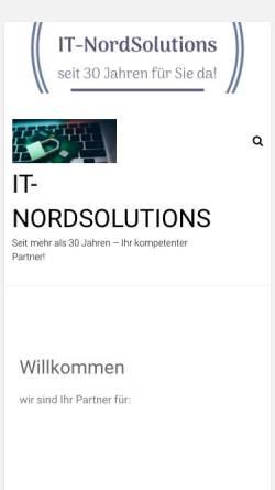 Vorschau der mobilen Webseite it-nordsolutions.de, It-nordsolutions
