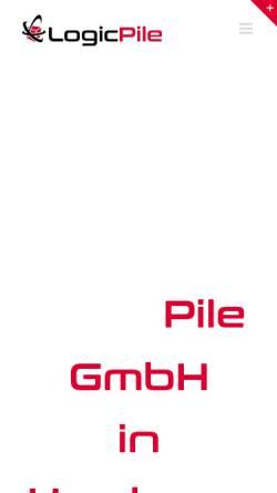 Vorschau der mobilen Webseite logicpile.de, LogicPile GmbH