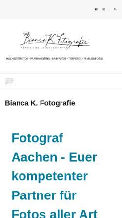 Vorschau der mobilen Webseite www.bianca-k-fotografie.de, Bianca K. Fotografie