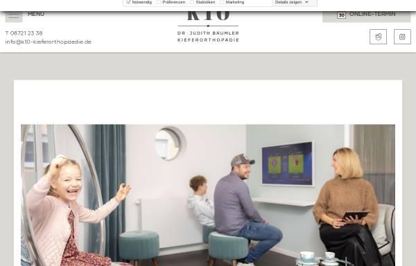 Vorschau von www.k10-kieferorthopaedie.de, Dr. Judith Bäumler - K10 Kieferorthopädie