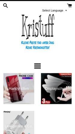 Vorschau der mobilen Webseite kristuff.com, Kristuff