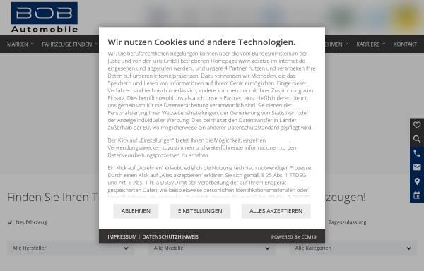 Vorschau von www.bob-automobile.de, BOB Automobile