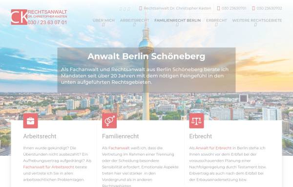 Vorschau von www.rakasten.de, Rechtsanwalt Dr. Christopher Kasten