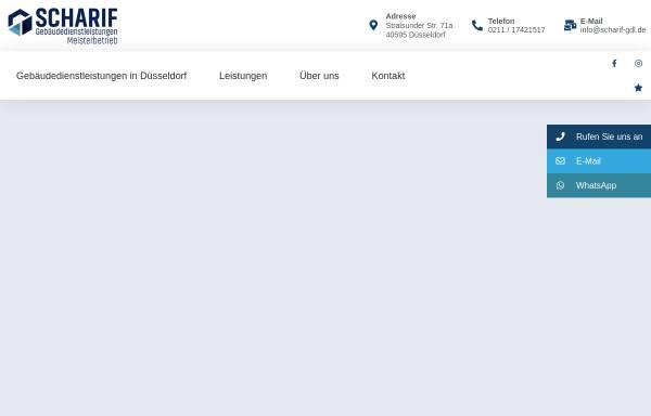 Vorschau von www.scharif-gdl.de, Scharif Gebäudedienstleistungen - Meisterbetrieb