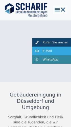 Vorschau der mobilen Webseite www.scharif-gdl.de, Scharif Gebäudedienstleistungen - Meisterbetrieb