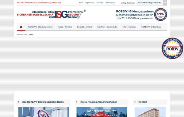 Vorschau von sicherheitsausbildung.berlin, ROTEIV®-Bildungszentrum