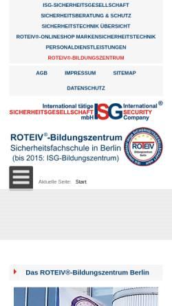 Vorschau der mobilen Webseite sicherheitsausbildung.berlin, ROTEIV®-Bildungszentrum