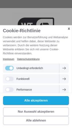 Vorschau der mobilen Webseite www.selbstverteidigung-hoechstadt.de, Markus Kleinlein WingTsun