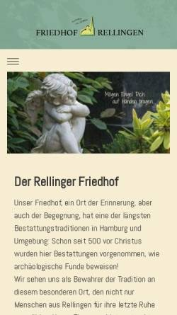 Vorschau der mobilen Webseite www.friedhof-rellingen.de, Friedhof Rellingen