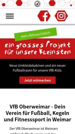 Vorschau der mobilen Webseite www.vfb-oberweimar.de, Oberweimar e.V.