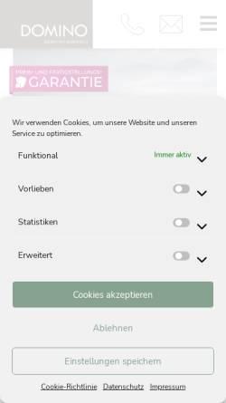 Vorschau der mobilen Webseite www.domino-bau.de, DOMINO Bau- und Handels GmbH