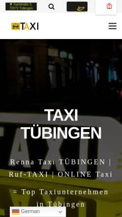 Vorschau der mobilen Webseite taxiintuebingen.de, Renna Taxi Tübingen