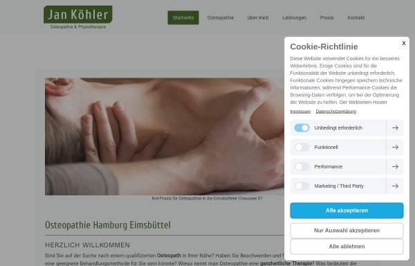 Vorschau von www.osteopathie-eimsbuettel.de, Jan Köhler Osteopathie