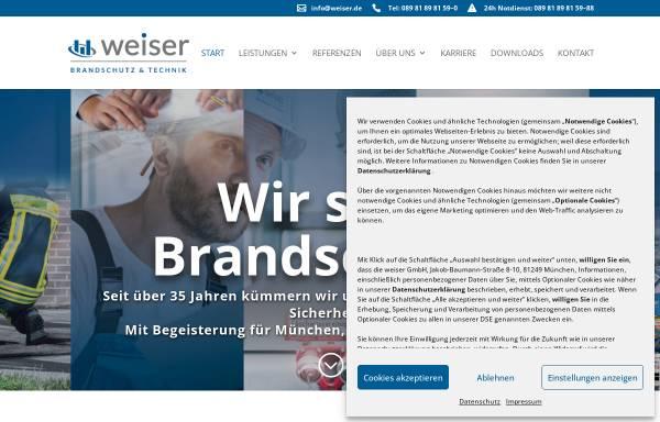 Vorschau von www.weiser.de, Weiser GmbH Brandschutz & Technik
