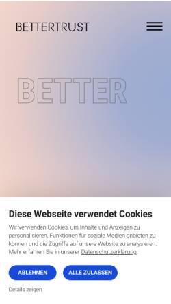 Vorschau der mobilen Webseite www.bettertrust.de, Bettertrust GmbH