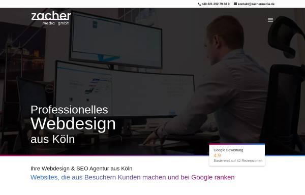 Vorschau von zachermedia.de, zacher media gmbh