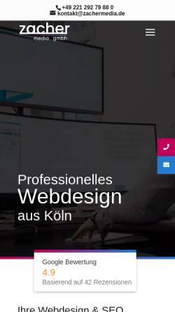 Vorschau der mobilen Webseite zachermedia.de, zacher media gmbh