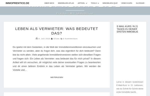 Vorschau von immoprentice.de, Immoprentice
