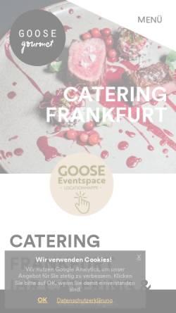 Vorschau der mobilen Webseite www.goosegourmet.de, GOOSE Gourmet GmbH