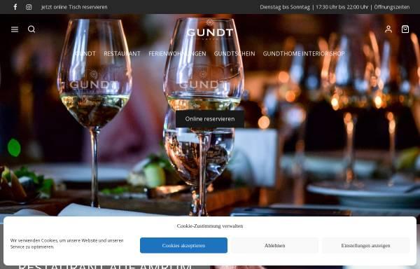 Vorschau von www.gundtamrum.com, Restaurant GUNDT