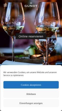Vorschau der mobilen Webseite www.gundtamrum.com, Restaurant GUNDT