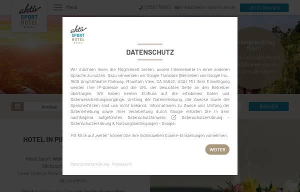 Vorschau von www.aktiv-sporthotel.de, aktiv SPORTHOTEL ***