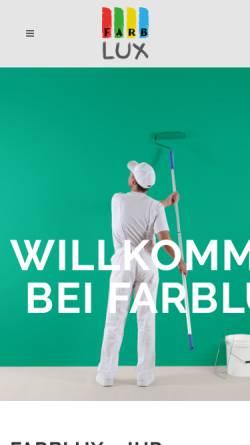 Vorschau der mobilen Webseite www.farblux.de, Farblux