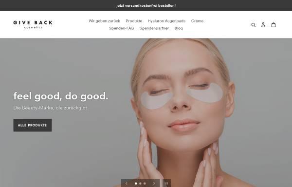 Vorschau von www.giveback-cosmetics.de, GIVE BACK UG