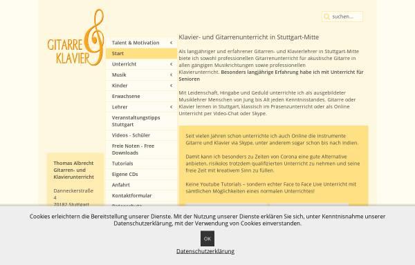 Vorschau von www.gitarre-klavier.de, Thomas Albrecht Gitarren- und Klavierunterricht