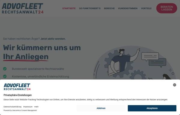 Vorschau von www.rechtsanwalt24.de, Advofleet Business Services GmbH